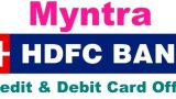 Myntra HDFC cards offers