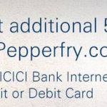 Pepperfry ICICI 5% discount offer