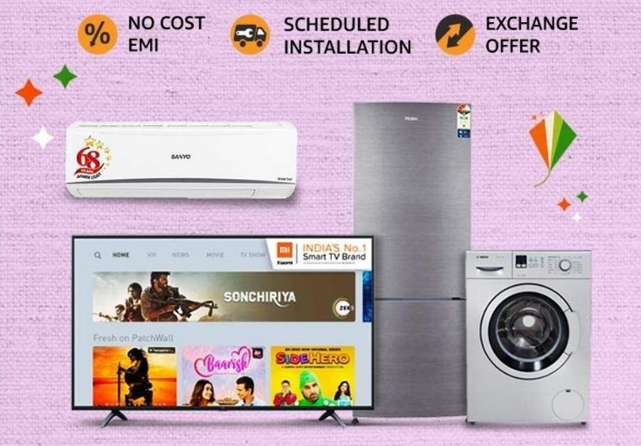 Amazon Big Billion Days Sale deals on appliances